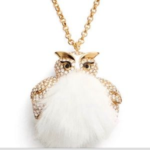 KATE SPADE ♠️ Fuzzy Faux Fur Embellished Owl.
